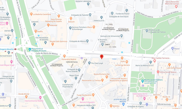 Localización colegio privado Madrid barrio de Salamanca